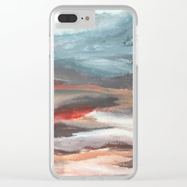Serenity [2]: an acrylic piece in both warm and cool colors by Alyssa Hamilton Art Clear iPhone Case