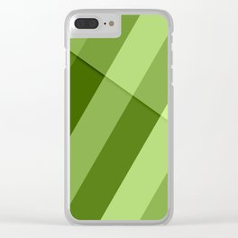Greenery modern geometric lines Clear iPhone Case