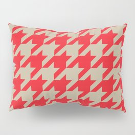Houndstooth (Brown and Red) Pillow Sham