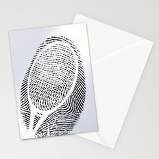 Fingerprint of a player Stationery Cards