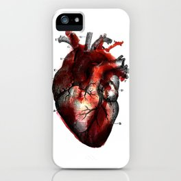 Bloody heart iPhone Case