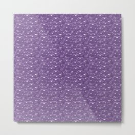 Purple Blue Bubbles Metal Print