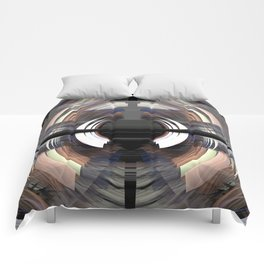 Tunnel vision, modern fractal abstract art Comforters