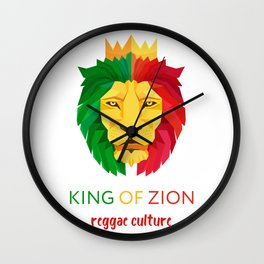 Reggae Lion Wall Clock