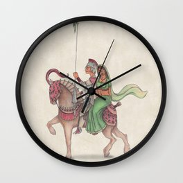 Indian Knight Wall Clock