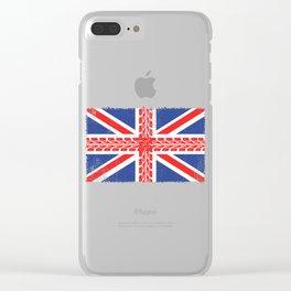 UK Flag Motorbike Gift Clear iPhone Case