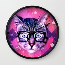 Cat of the Universe Wall Clock