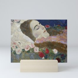 RIA ON HER DEATHBED - GUSTAV KLIMT Mini Art Print