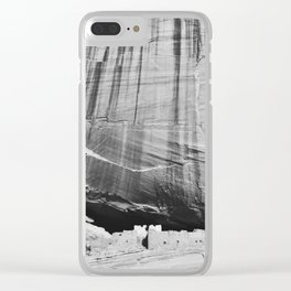 White House Ruins in Black & White Clear iPhone Case