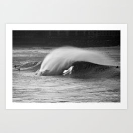 Perfect wave. Art Print