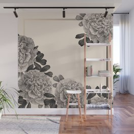 Flowers on a winter day Wall Mural
