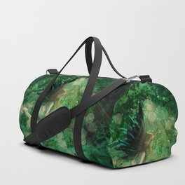 Abstract illustration of fairy fly in the forest Duffle Bag