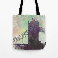 bridge Tote Bags featuring Bridge by Nechifor Ionut