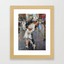 World War Kiss Framed Art Print