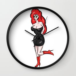 The PVC Pirate Red Head Wall Clock