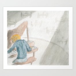 Lonely Pianist Art Print