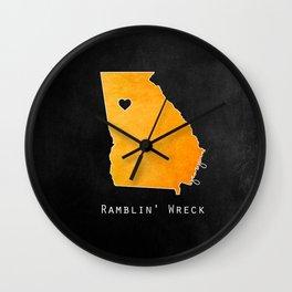 Ramblin' Wreck Wall Clock