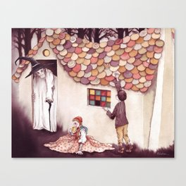 Nibble, nibble, gnaw - From Hansel and Gretel - As recorded by the Brothers Grimm Canvas Print