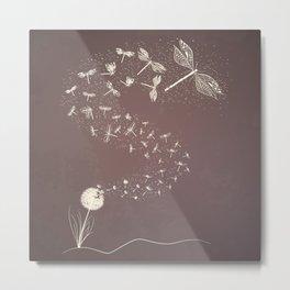 Dandelion's metamorphosis Metal Print