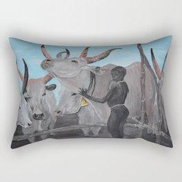 African Boy with cows Rectangular Pillow