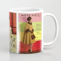 givenchy Mugs featuring 1961 Fall/Winter Catalog Cover by Spiegel Catalog