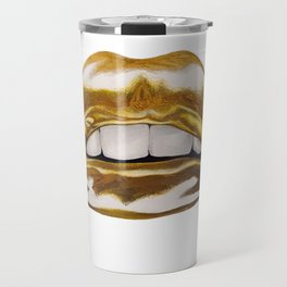 Golden Lips Travel Mug