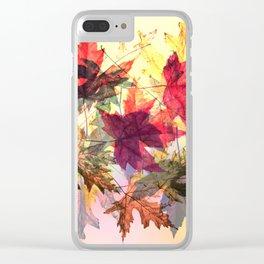 fallen leaves III Clear iPhone Case