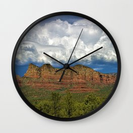 Monsoon Clouds over Sedona by Reay of Light Photography Wall Clock