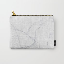 Gray white elegant modern abstract marble Carry-All Pouch