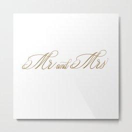Mr. and Mrs. Metal Print