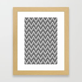 black&white zigzag Framed Art Print