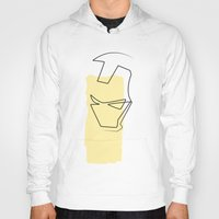 quibe Hoodies featuring Oneline Ironman by quibe