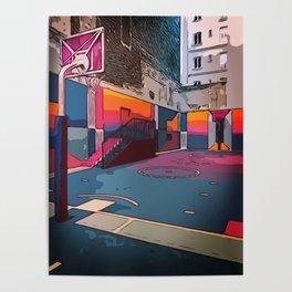 Play the game: Basketballcourt Poster