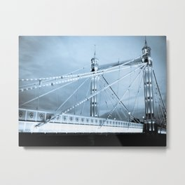 Albert Bridge London Metal Print