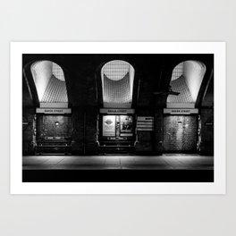 Alight here for Sherlock Holmes - Baker Street Tube Art Print