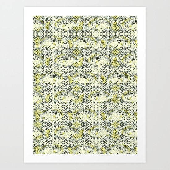 dotted fish Art Print