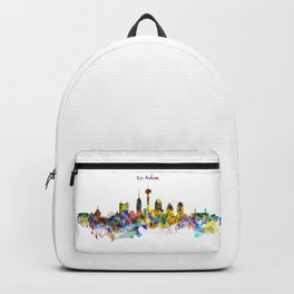 San Antonio Skyline Silhouette Backpack