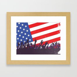 Stars And Stripes Audience Framed Art Print