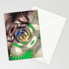 Mix of Mutated Patterns Stationery Cards