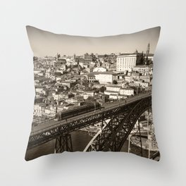 Porto sepia Throw Pillow