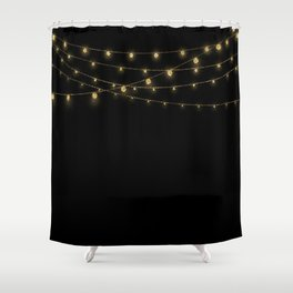 Gold rich Glitter Chain- Treasure Sparkle Shower Curtain