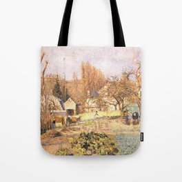 Kitchen Garden At The Hermitage Pontoise 1874 By Camille Pissarro | Reproduction | Impressionism Pai Tote Bag