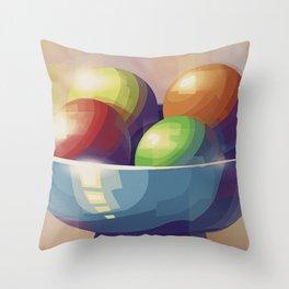 Game Balls Throw Pillow