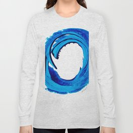 Pure Water 312 - Blue Abstract Art By Sharon Cummings Long Sleeve T-shirt