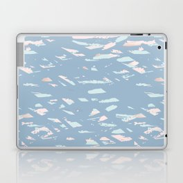 Blue and Gold terrazzo Laptop & iPad Skin