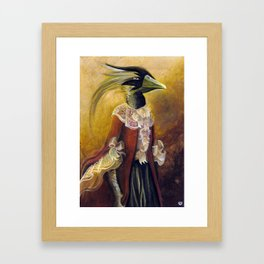 Lady Dragon Framed Art Print