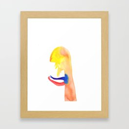 Everything and nothing Framed Art Print