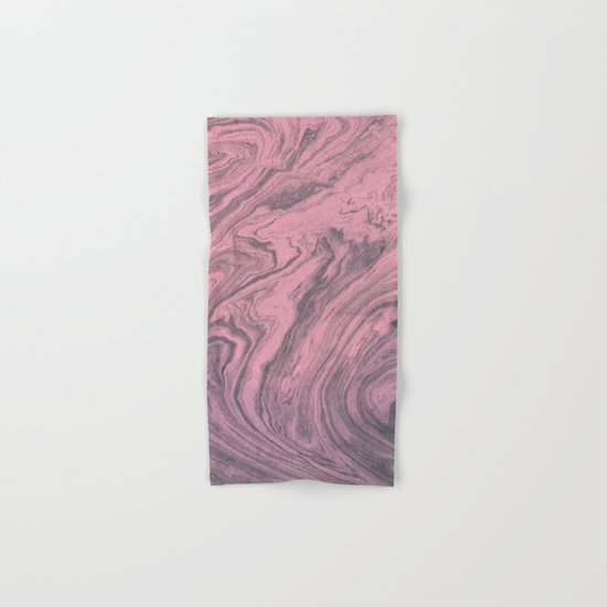 Pink Marbled Texture Hand & Bath Towel