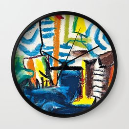 Pablo Picasso - Cigarettes and sailors - Digital Remastered Edition Wall Clock