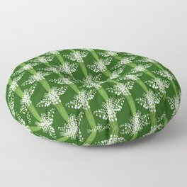 lily of the valley pattern Floor Pillow